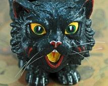 Halloween Black Cat Basket by Department 56