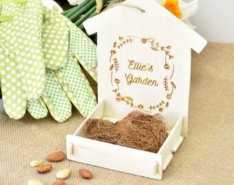 Personalised Wooden Bird Feeder Kit - Children's Gift - Bird Feeder - Gardening - Gift for Gardener - Personalized kids [CGDN-002]