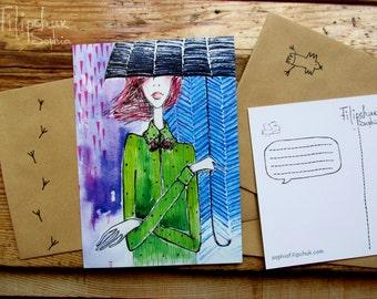 "Postcard ""I'm happy again"""