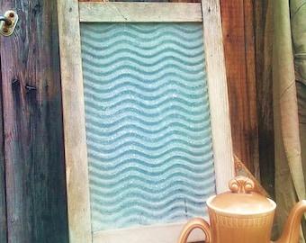 Vintage Washboard, wood washboard, laundry scrubber.Soviet vintage, 1960s
