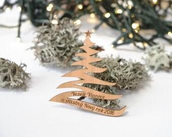 Wooden Christmas Tree Magnet, Christmas Magnet, Laser Cutted Magnet, Wooden Magnet, Merry Christmas Magnet, A small gift,Wood Christmas Tree
