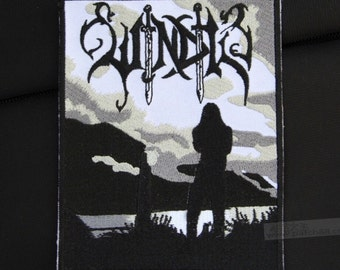 Windir Black Metal band patch Embroidered patch Sew on patch Iron on patch Applique
