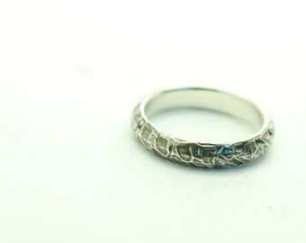 Peel Ring, Sterling Silver, Statement Ring