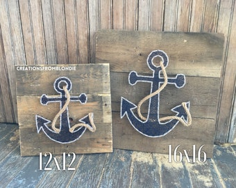 Anchor String Art Sign, MADE TO ORDER