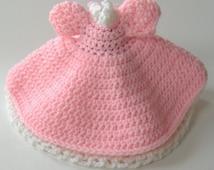 Crocheted Dress for Air Freshener Doll, Pink and White Dress For Doll, Dress for Pig Air Freshener Doll, Doll Dress for Home Decor