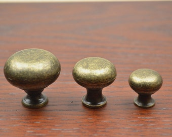 Dresser Knobs Kitchen Cabinet Door Knobs Round Antique Bronze Drawer Knobs Furniture Hardware Knob Sets for Home Decorative 3 Sizes