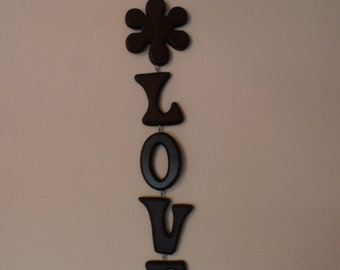 Vintage Retro LOVE Wooden Hanging Letters Wall Display