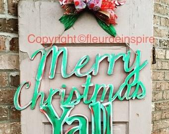 Merry Christmas Y'all door hanger