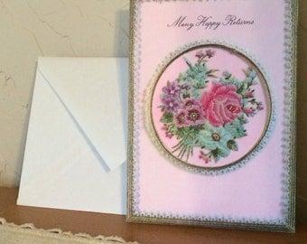 Many Happy Returns vintage Card