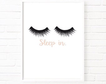 Sleep in Eyelashes Scandinavian print