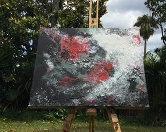 Dark Wave I - original acrylic abstract