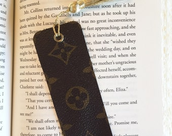 Louis Vuitton upcycled authentic canvas bookmark