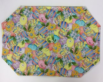 Sparkly Easter Egg Placemats/ Set Of 4
