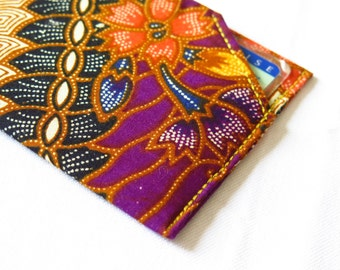 Card holder CNI - Format for French ID - printed batik of Bali