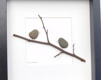 Scottish pebble art picture - birds 8