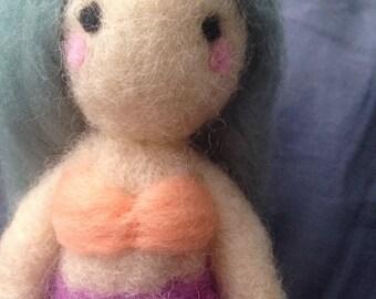 Mermaid Needle Felt Doll