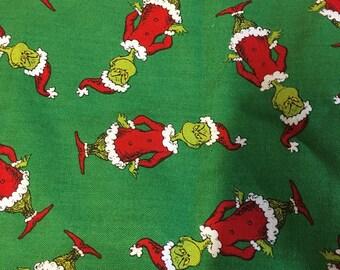 Dr Suess Grinch cotton print