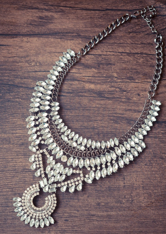 Mixed Silver Statement Necklace