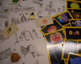 72 Assorted Picture Flashcards Vintage and More Recent 7 sizes/types Group A Free Shipping in USA