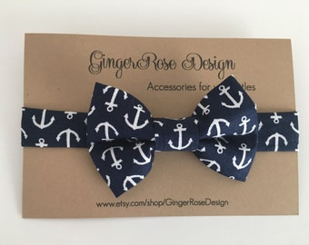 Navy Anchor Bow Tie; Nautical Bow Tie; Boat Bow Tie; Sailor bow tie; Toddler Bow Tie; Boy Bow Tie; Baby Bow Tie; Velcro Bow Tie