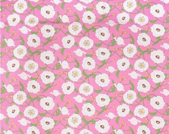 Tribeca Pink   Floral Cotton Fabric Timeless Treasure Deep    By the Yard