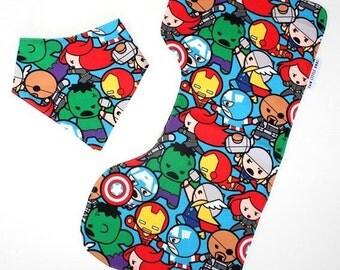 Bib and Burp Cloth Set / Baby Shower Gift / Bandana Dribble Bib / Bib & Burp Cloth Gift / Terry Towelling / Dribble Bib / Burp Cloth