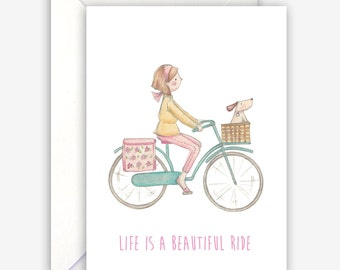 Cute and fun Life is a Beautiful ride Card