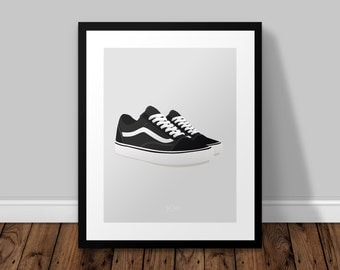 Vans Old Skool Illustrated Poster Print | A6 A5 A4 A3