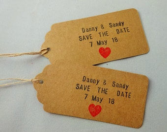 Save the date luggage tag   Etsy UK