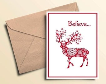 Believe Seasonal Cards – Boxed Set of 10 With Envelopes