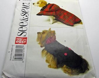 Butterick B 5126  Sewing Pattern Dog Coats All Sizes XS S M L New Uncut
