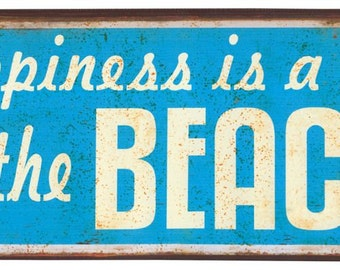 Metal sign Beach