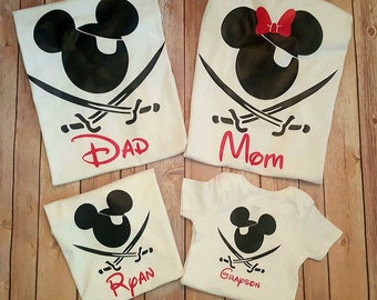 Mickey Pirate Tshirt - Mickey Pirate Youth Shirt -Mickey Pirate Body Suit