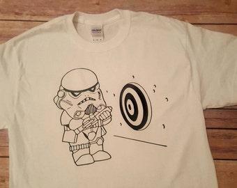 Storm Trooper Can't Shoot - Custom T-Shirt - Star Wars Shirt - Ladies Star Wars Tank