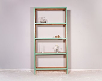 Bookshelf from recycled lumber PÖT