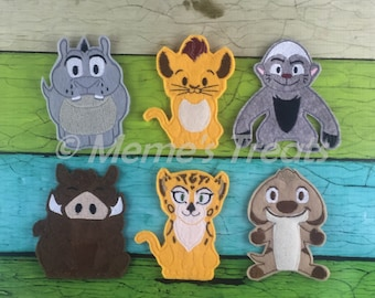 Set of 6 Finger Puppets - Inspired by Savannah Guard show
