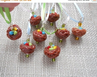On Sale Bird Nest Ribbon Necklace was 5.00 now 2.50