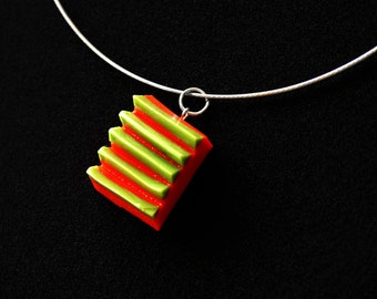 necklace green/red
