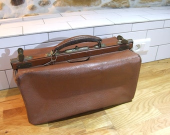 Doctors Bag // Vintage French Doctors Bag // Gladstone bag