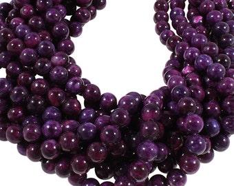 15 IN Strand 10 mm Sugilite Dyed Round Smooth Gemstone Beads (SU100108)