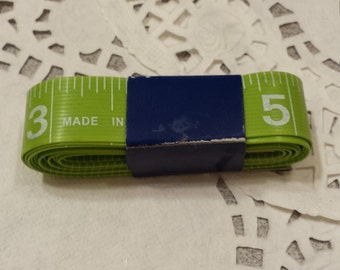 4 Measuring tapes - 1 green, 1 yellow, and 2 orange - sewing, crafting supplies - a Set of 4