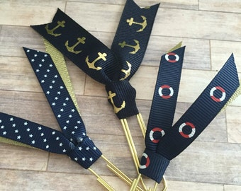 Nautical Ribbon Clips