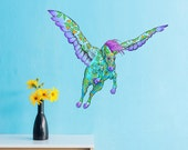 Horse Pegasus Wall Sticker Decal for Girls Room, Nursery or Living Room