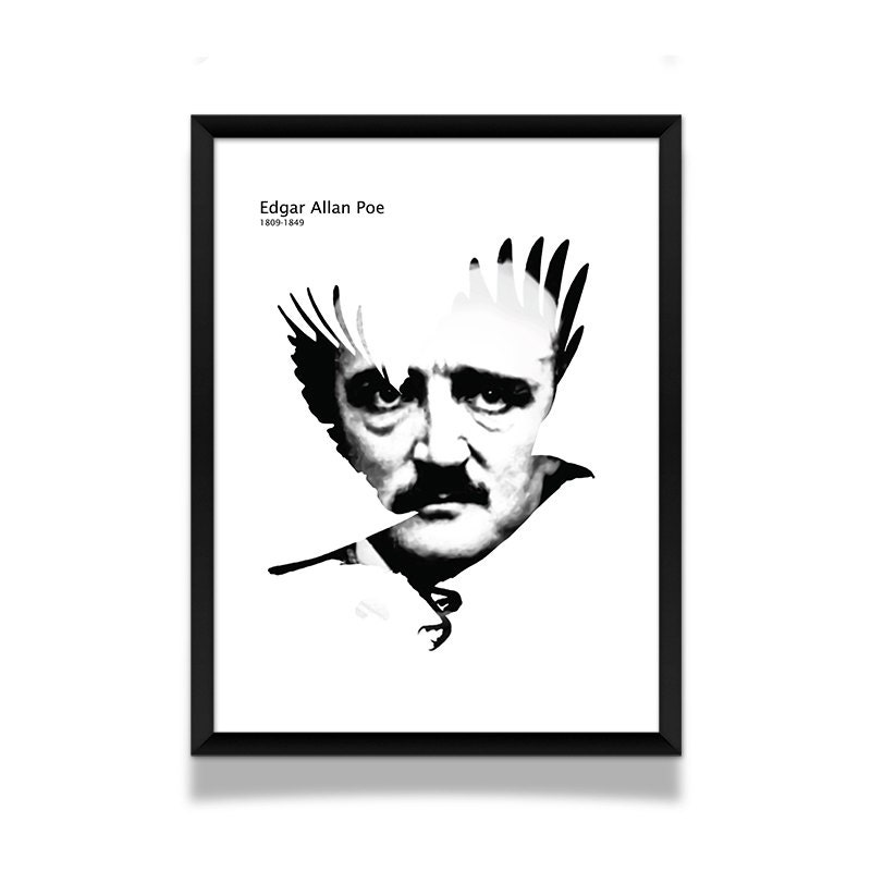 Tell Tale Heart Quotes: Edgar Allan Poe Poster Literature Poster Edgar Allan Poe