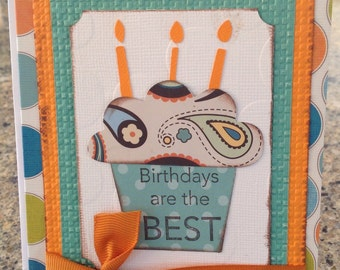 Cupcake Birthday Card- birthday wishes inside