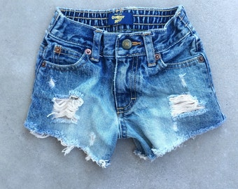 2T Toddler Girl High Waisted Shorts