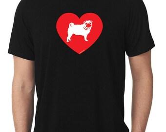 Love Pug T-Shirt T290