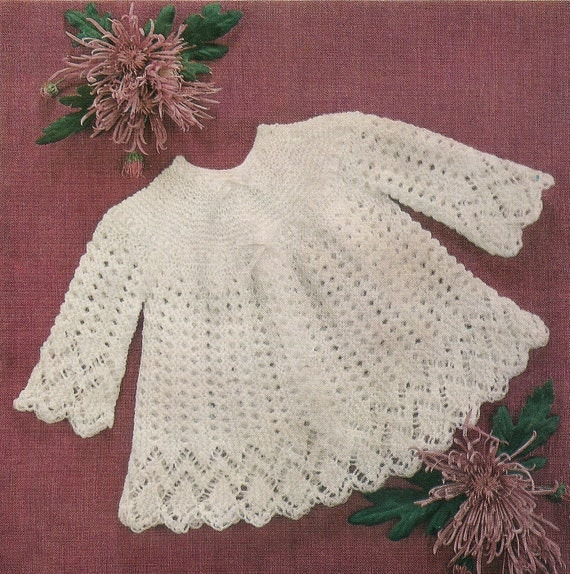 Knitting Pattern Angel Top : Baby Knitting Pattern Angel Top 3 & 4 Ply 46-50 cm Emu 8537