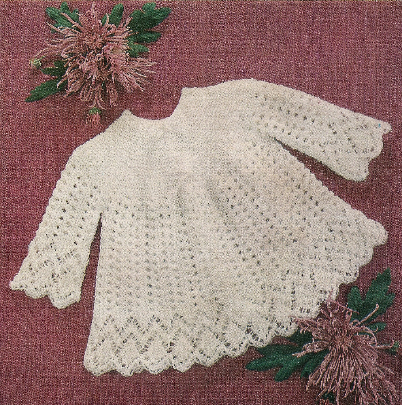 4 Ply Baby Knitting Patterns : Baby Knitting Pattern Angel Top 3 & 4 Ply 46-50 cm Emu 8537