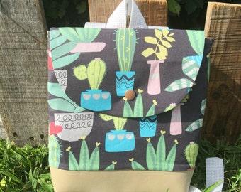 Toddler backpack, toddler backpack boy, toddler backpack girl, toddler bag, mini backpack, Succulent O'Mac Pack, backpack